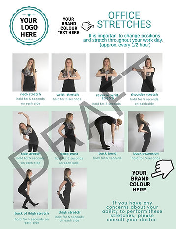 Customized 8.5 X 11 inch Office Stretches Poster