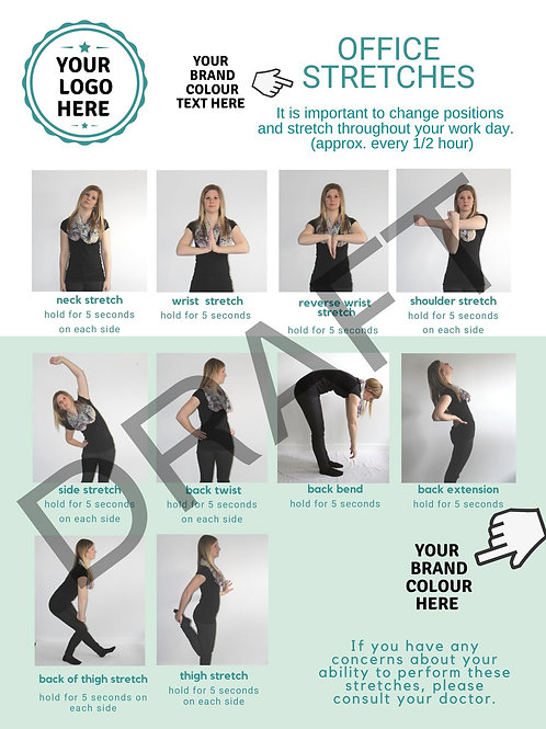 Draft marked stretching poster sample