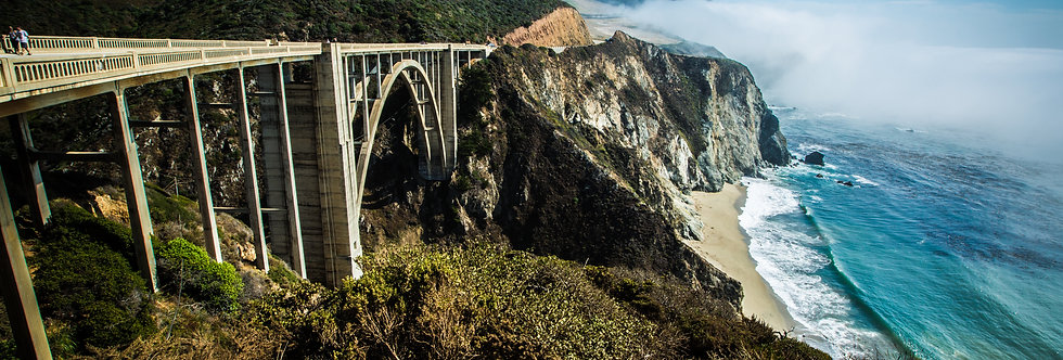 Bixby Creek Bridge. Print Fine Art papel Hahnemühle 100% algodão (30cm x 40cm)