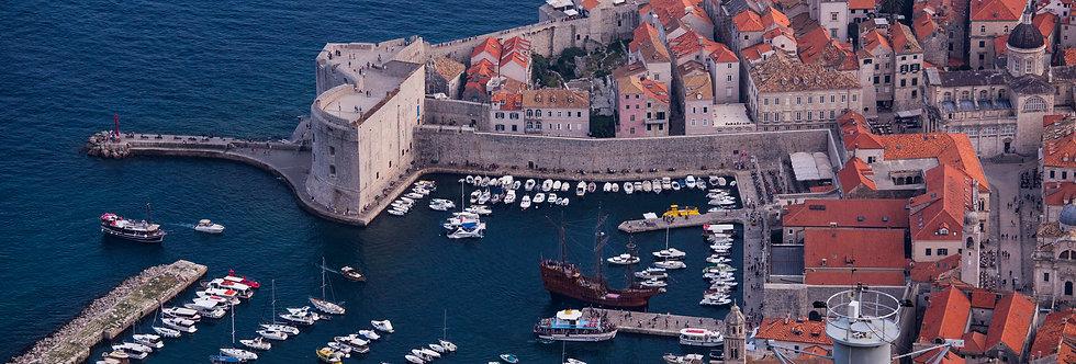 Muralhas de Dubrovnik. Print Fine Art papel 100% algodão (30cm x 40cm)