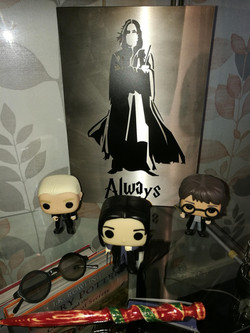 Snape With Pop Figures.