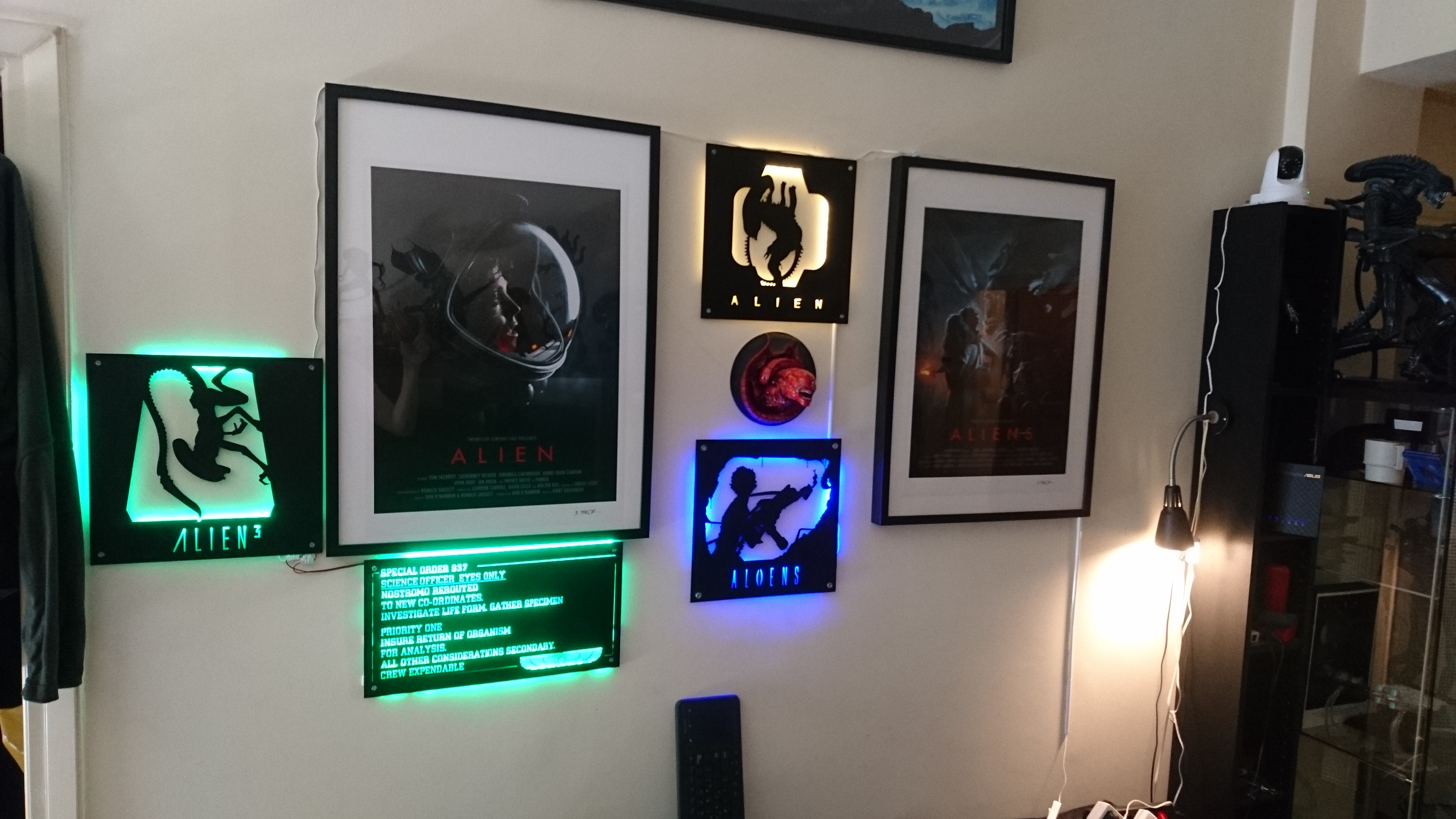 Various Backlit Alien Plates