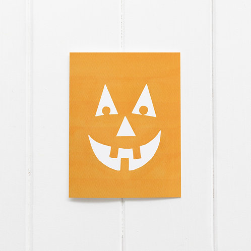 Pumpkin Face Card