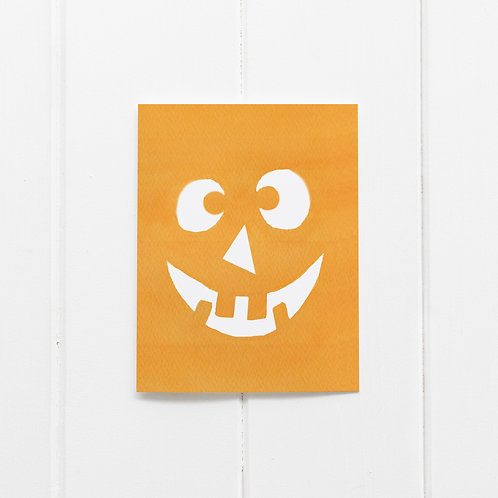 Pumpkin Face Card