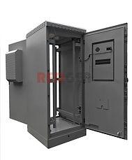 двухдверный шкаф IP65 с двумя кондиционерами
