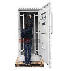Шкаф IP65 33U (высота шкафа больше роста человека)
