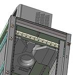 вид изнутри шкафа на потолочный кондицио