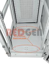 штк-пвз вид на кабельные вводы в дне шка