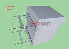 Климатический шкаф с узлом мачтового крепления МКШ