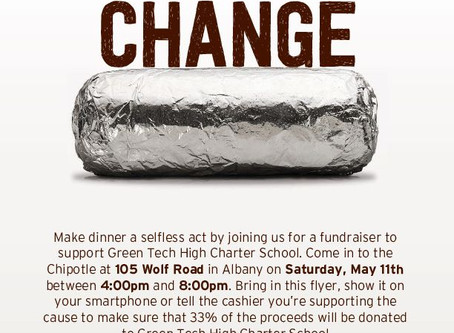 Eat for change at CHIPOTLE!!!