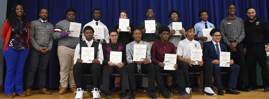 Green Tech High student's National Honors Society Induction