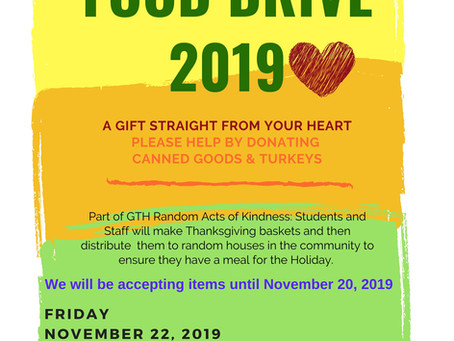 GTH Random Acts of Kindness Thanksgiving Baskets 11/22/2019