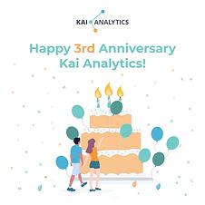 Kai Analytics 3rd Anniversary