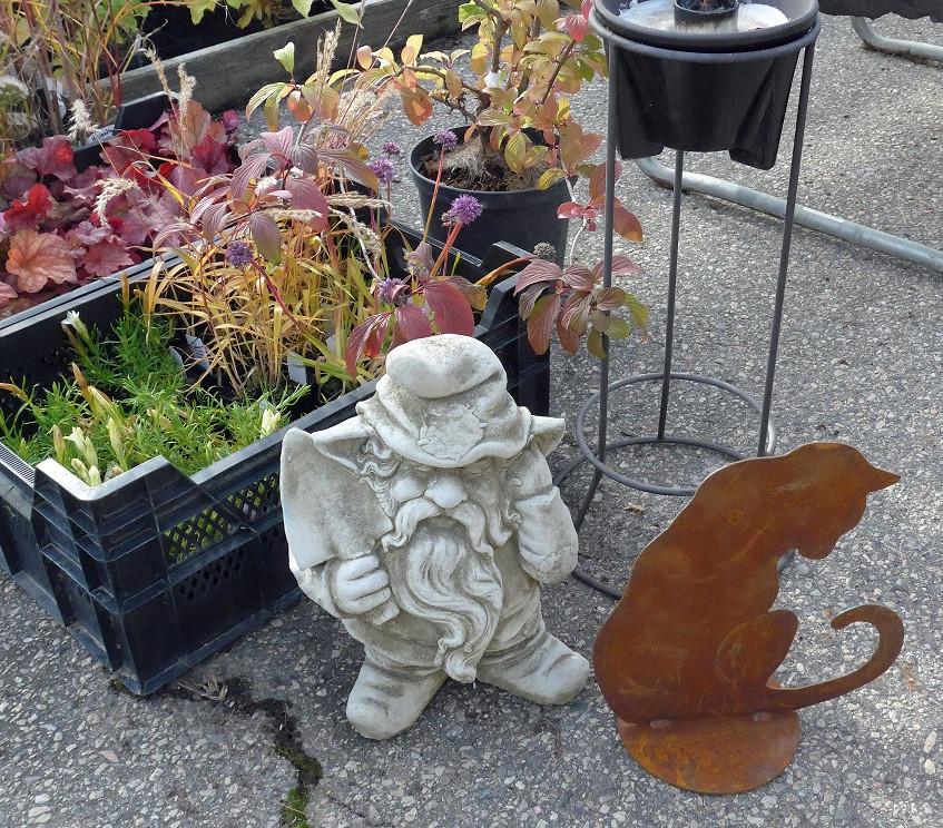 växter plåtkatt o figur