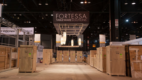 Tradeshow booth logistics organized by Poss Productions