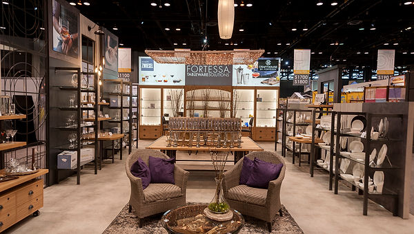 Interior of a custom tradeshow booth designd by Poss Productions
