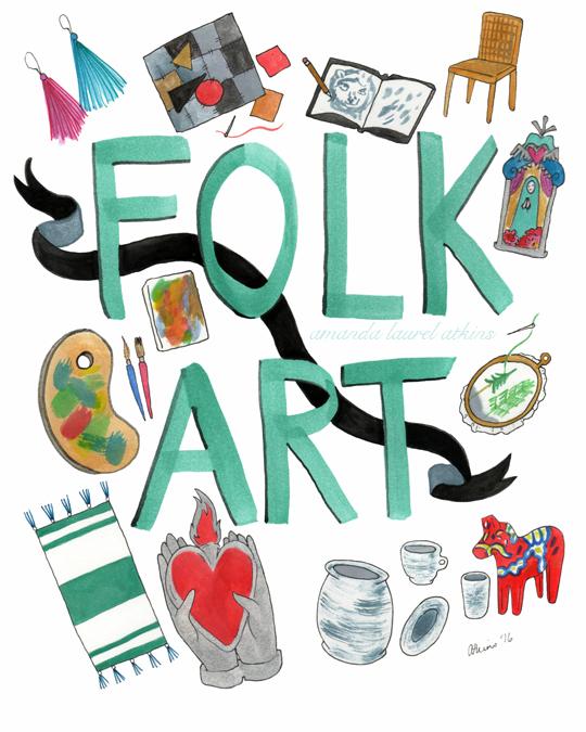 Folk Art Print wm