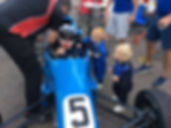 AF RACING Adam Fathers ff1600 getting straped in with the boys watching on snetterton 300