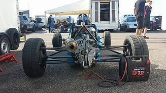 AF RACING Adam Fathers ff1600 Friday testing rear view snetterton 300