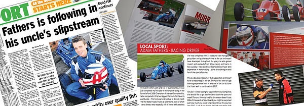 Media Banner Adam Fathers Racing Formula Ford 1600 Kent London af racing