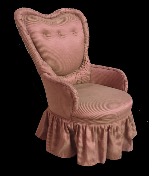 Vintage Womenu0027s Boudoir Chair. Sweet Stripes And A Skirted Bottom Make This  A Perfect Fit For A Nursery!