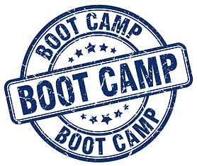 stamp that says boot camp