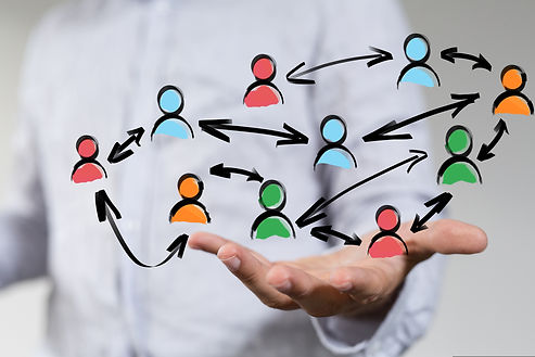 illustration of people icons networking