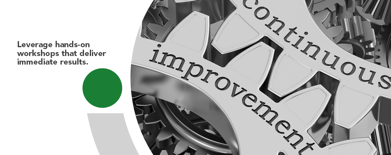 Cogs that say continuous improvement