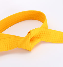 yellow karate belt
