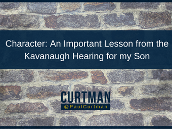 Character: An Important Lesson From the Kavanaugh Hearing For My Son