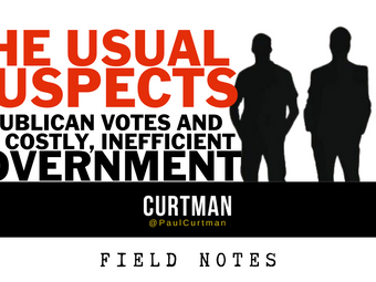The Usual Suspects: Republican Votes & Big, Costly, Inefficient Government.