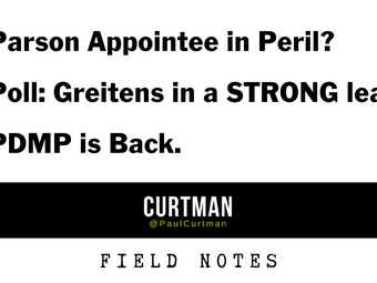 Parson Appointee in Peril? POLL: Greitens in a STRONG lead. PDMP is Back.