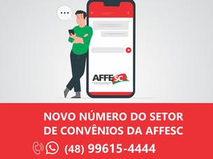 Novo contato da AFFESC