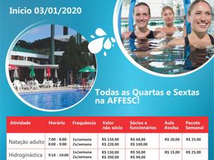 Amanhã: novas atividades aquáticas na AFFESC