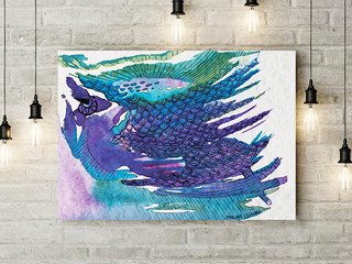"""""""Spirit of the Sea"""" is one of my more abstract watercolor paintings.jpg"""