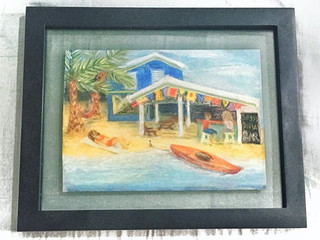 Do you know why this place is called  the Soggy Dollar Bar_  Take a guess in the comments below!  Part 1 of 3 in a chalk pastel series of th
