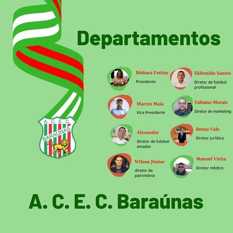 Baraúnas anuncia sua nova diretoria para gestão 2020-2021