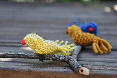 Galho com dois passarinhos