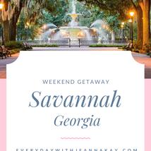 Weekend Getaway - Savannah, Georgia