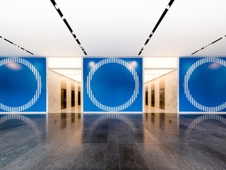 Contemporary Art Projects Installed in Thanksgiving Tower Renovated Lobby