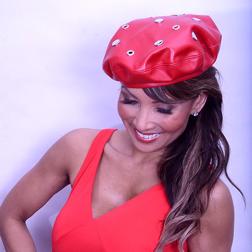 Red Leather Beret