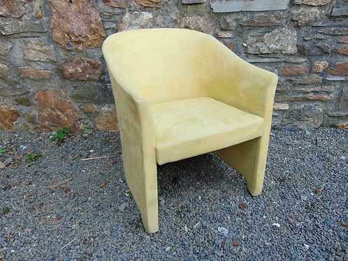 SUEDE YELLOW TUB CHAIR