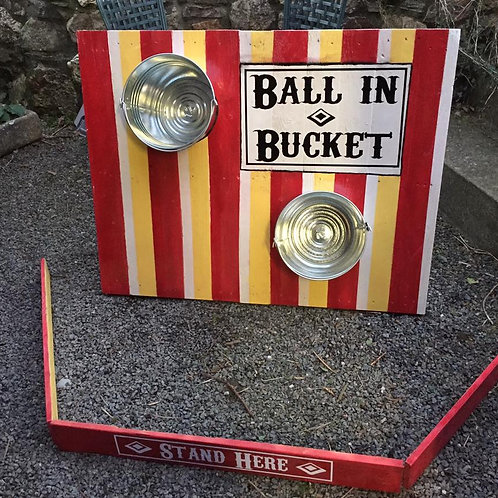 BALL IN BUCKET VINTAGE FAIRGROUND GAME