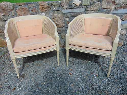 A PAIR OF FRENCH LOUIS STLYE CHAIRS