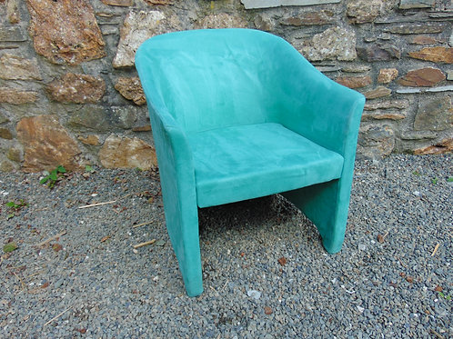 TEAL SUEDE TUB CHAIR
