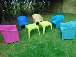 Suede Tub Chairs Garden Set
