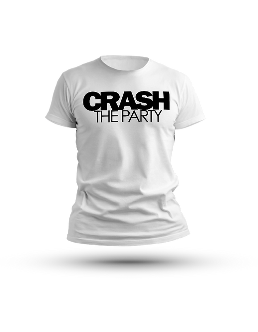 Crash The Party T Shirt White