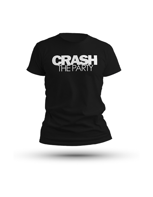 Crash The Party T Shirt Black