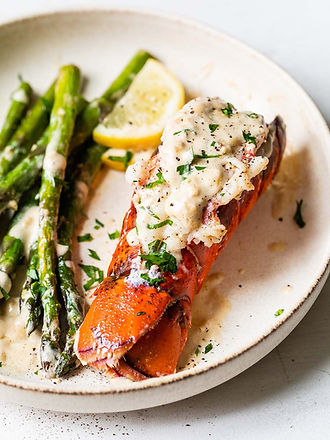 Maine Lobster Tails with Creamy Lemon Pa