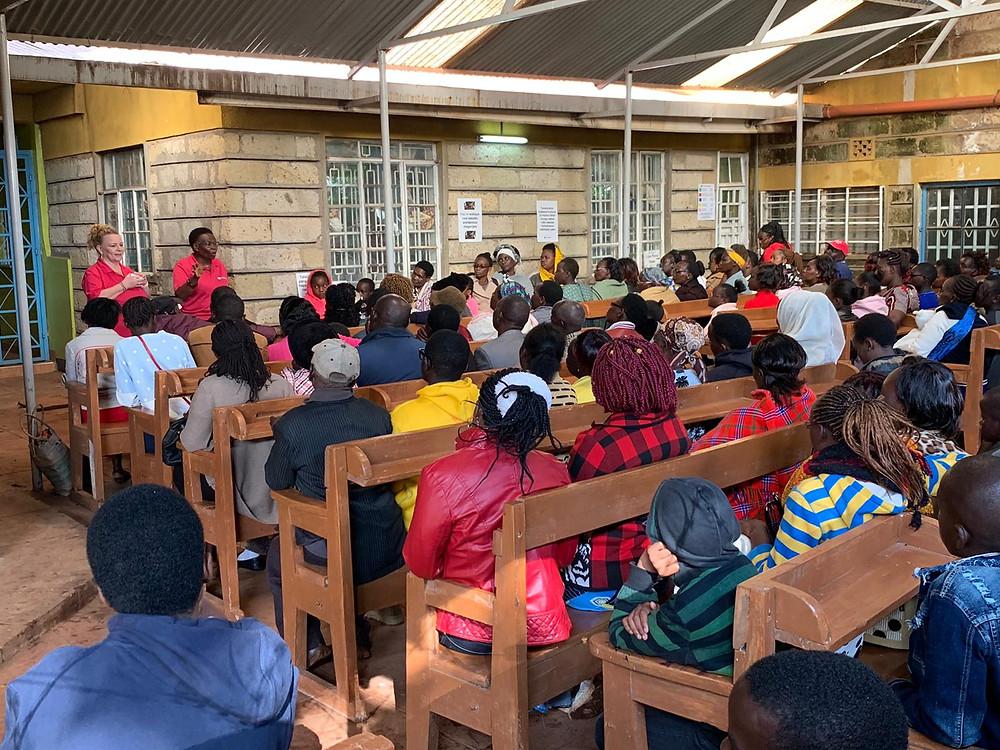 Image of full SeeKenya clinic waiting area
